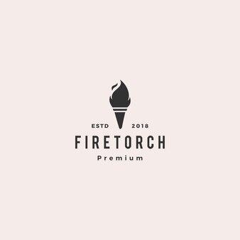 Antorcha logo vector illustration