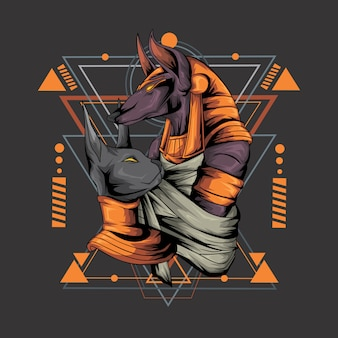 Anubis estilo geométrico