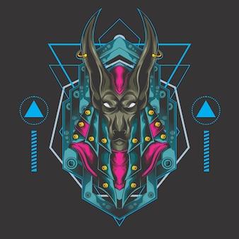 Anubis de poder oscuro