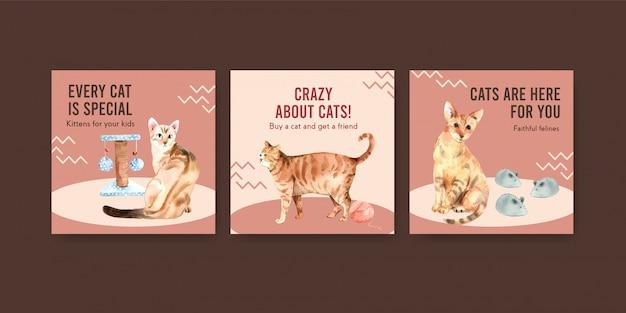 Anuncie plantillas con gatos