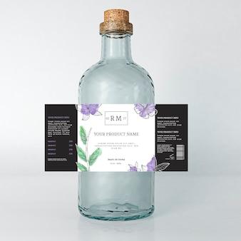 Anuncio de bebida de etiqueta floral de primavera