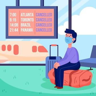 Anuncio de cancelación de vacaciones y viajes