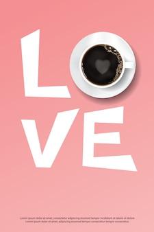 Anuncio del cartel del café