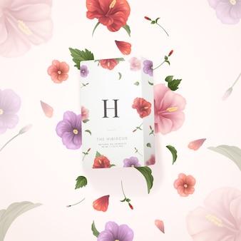El anuncio cosmético de extractos de aceite natural de hibisco