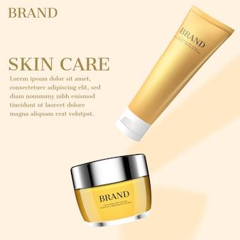 Anuncio de cosméticos para el cuidado de la piel