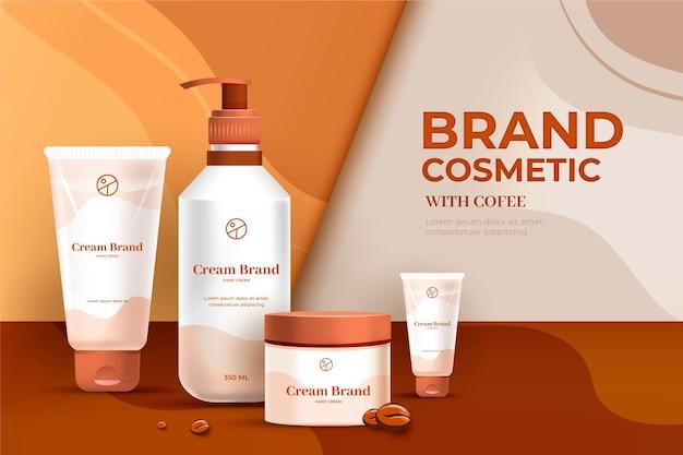 Anuncio de cosméticos de marca de gel y crema de loción