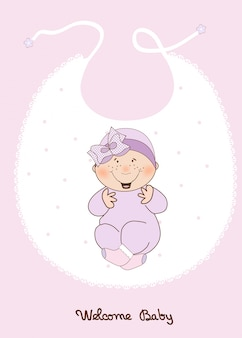 Anuncio de ducha de niña bebé