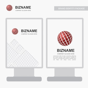 Anuncio de empresa banner diseño exclusivo con logo de pelota