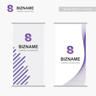Anuncio de la empresa, diseño único del banner con s logo