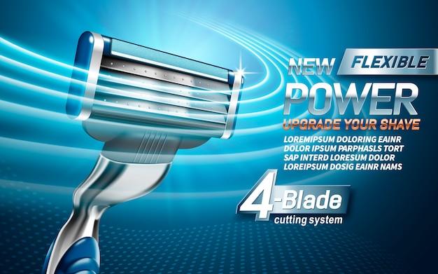 Anuncio de máquinas de afeitar eléctricas