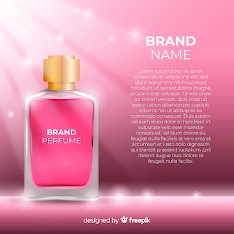 Anuncio de perfume de lujo