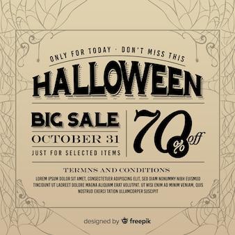 Anuncio de periódico de venta vintage de halloween