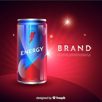 Anuncio realista bebida energética