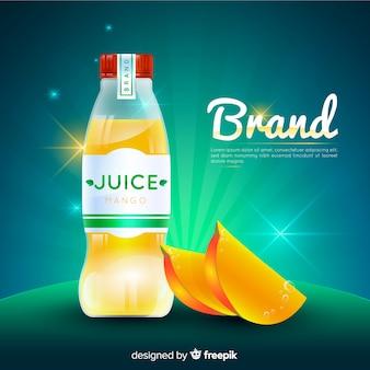 Anuncio realista zumo de mango