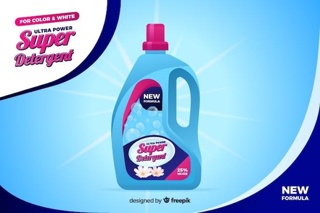 Anuncio de venta de detergente de lavandería realista