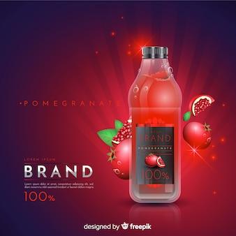 Anuncio de zumo de granada