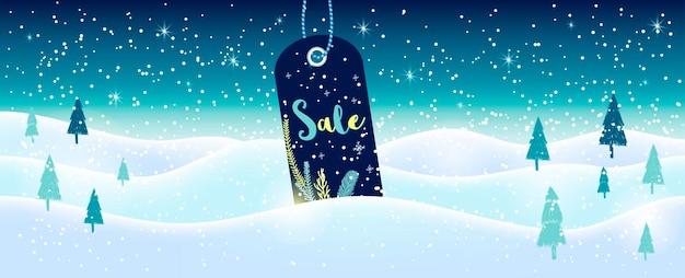 Anuncios y banners de venta de redes sociales de invierno, colección de plantillas web. ilustración de vector de navidad para carteles de sitios web móviles, diseños de correo electrónico y boletines, material promocional