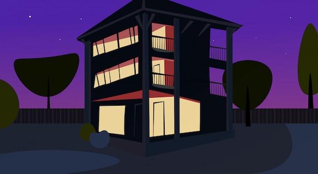 Apartamento de noche de diseño plano