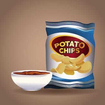 Aperitivos de papas fritas