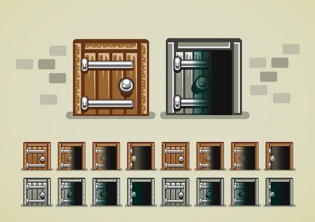 Apertura de puerta de castillo para videojuegos.