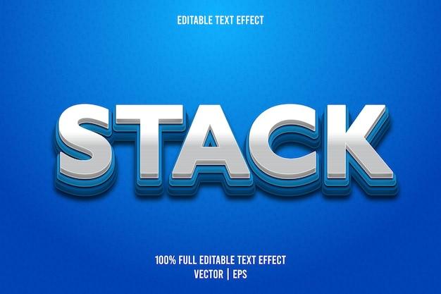 Apilar estilo de dibujos animados de efecto de texto editable