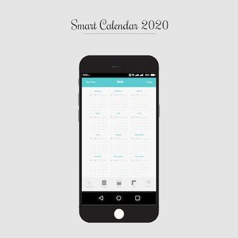 Aplicación de calendario inteligente ui / ux design