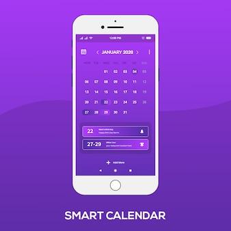 Aplicación de calendario inteligente ui ux