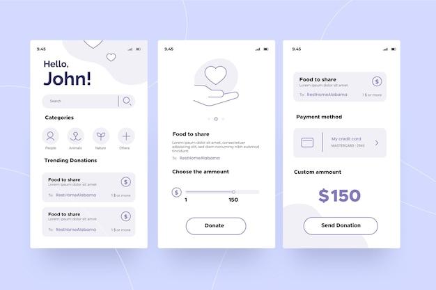 Aplicación de caridad
