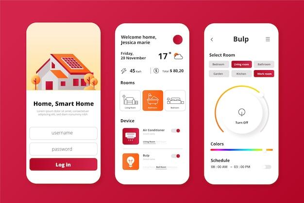 Aplicación de casa inteligente