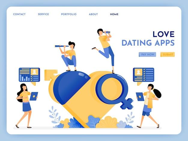Aplicación de citas para encontrar pareja de por vida