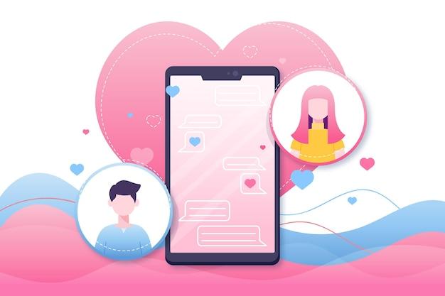 Aplicación de citas encuentra a tu pareja en línea