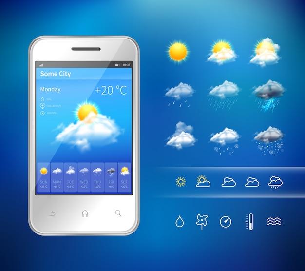 Aplicación de clima móvil
