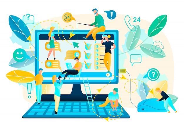 Aplicación de computadora o prueba de usabilidad de la página web