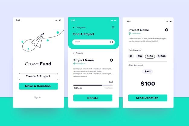 Aplicación de crowdfunding