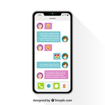 Aplicación de mensajería para chatear en el móvil