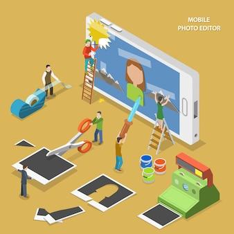 Aplicación de edición de fotos móvil.