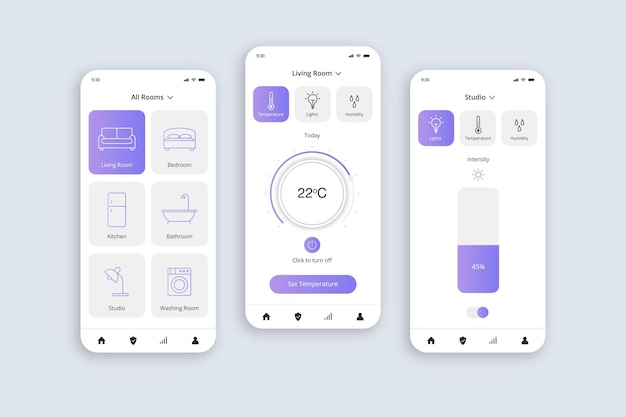 Aplicación para el hogar inteligente
