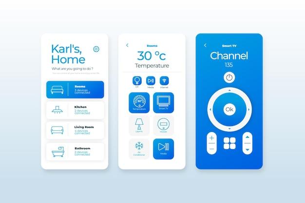 Aplicación de hogar inteligente