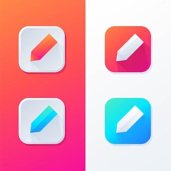Aplicación de icono de lápiz