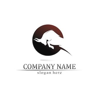 Aplicación de iconos de plantilla de logotipo y símbolos de cuerno de toro y búfalo