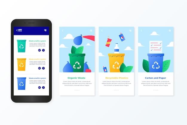 Aplicación de incorporación de servicio de reciclaje