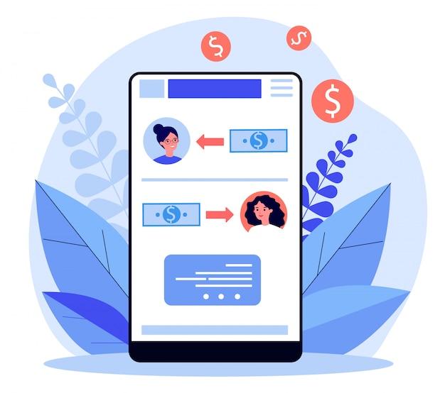 Aplicación en línea de pago de salario