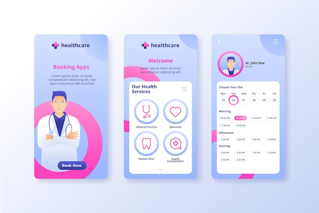 Aplicación en línea de reserva médica