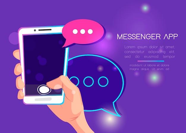 Aplicación de mensajería móvil para enviar mensajes de texto a amigos.
