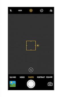 Aplicación moderna de la cámara del teléfono inteligente.