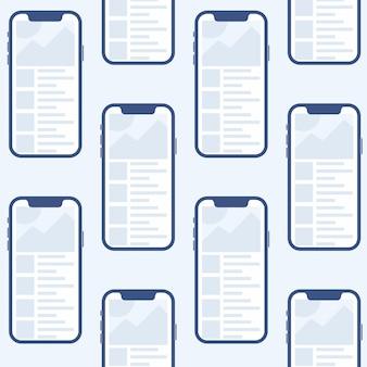 Aplicación móvil para android e ios plantilla simulada
