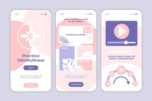 Aplicación móvil de meditación mindfullness