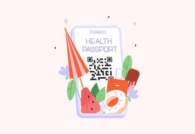 Aplicación móvil de pasaporte de salud o pasaporte de vacunación covid19