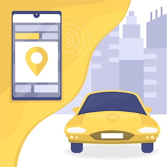 Aplicación móvil de servicio de taxi
