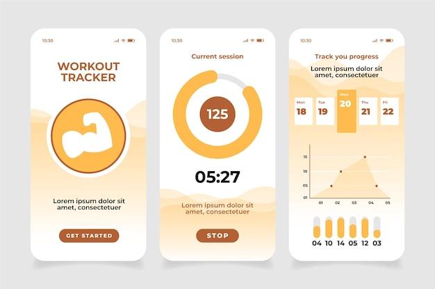 Aplicación móvil workout tracer